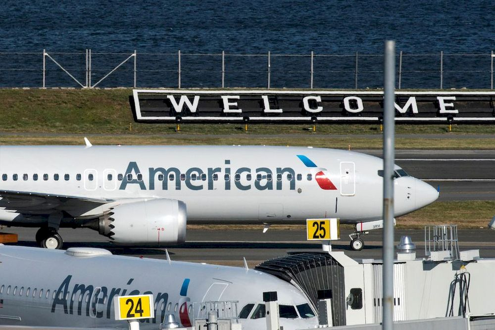 American Airlines flight 718, the first US Boeing 737 MAX commercial flight since regulators lifted a 20-month grounding in November, lands at LaGuardia airport in New York, US December 29, 2020. — Reuters pic