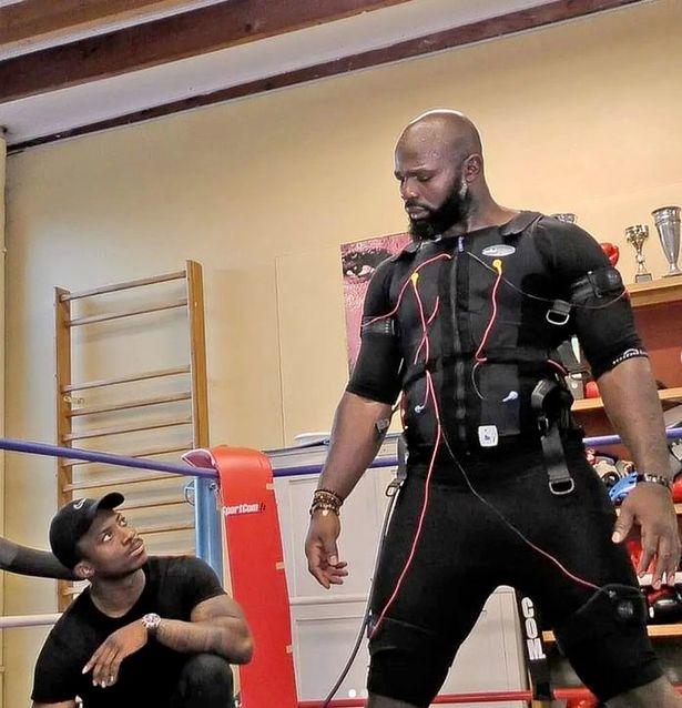 Carlos Takam in training ahead of Joe Joyce heavyweight clash