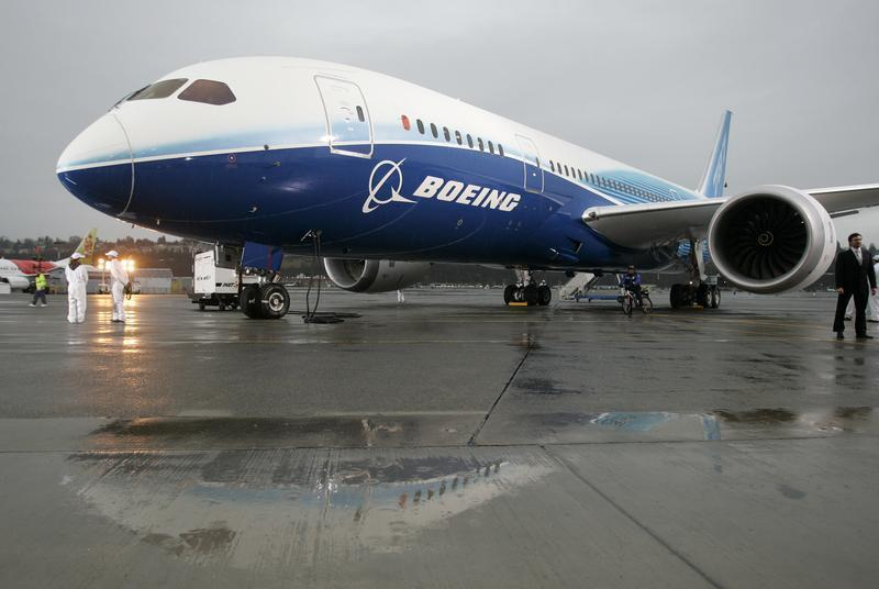 The Boeing 787 Dreamliner sits on the tarmac at Boeing Field in Seattle, Washington after its maiden flight, in this December 15, 2009 file photograph. — Reuters pic