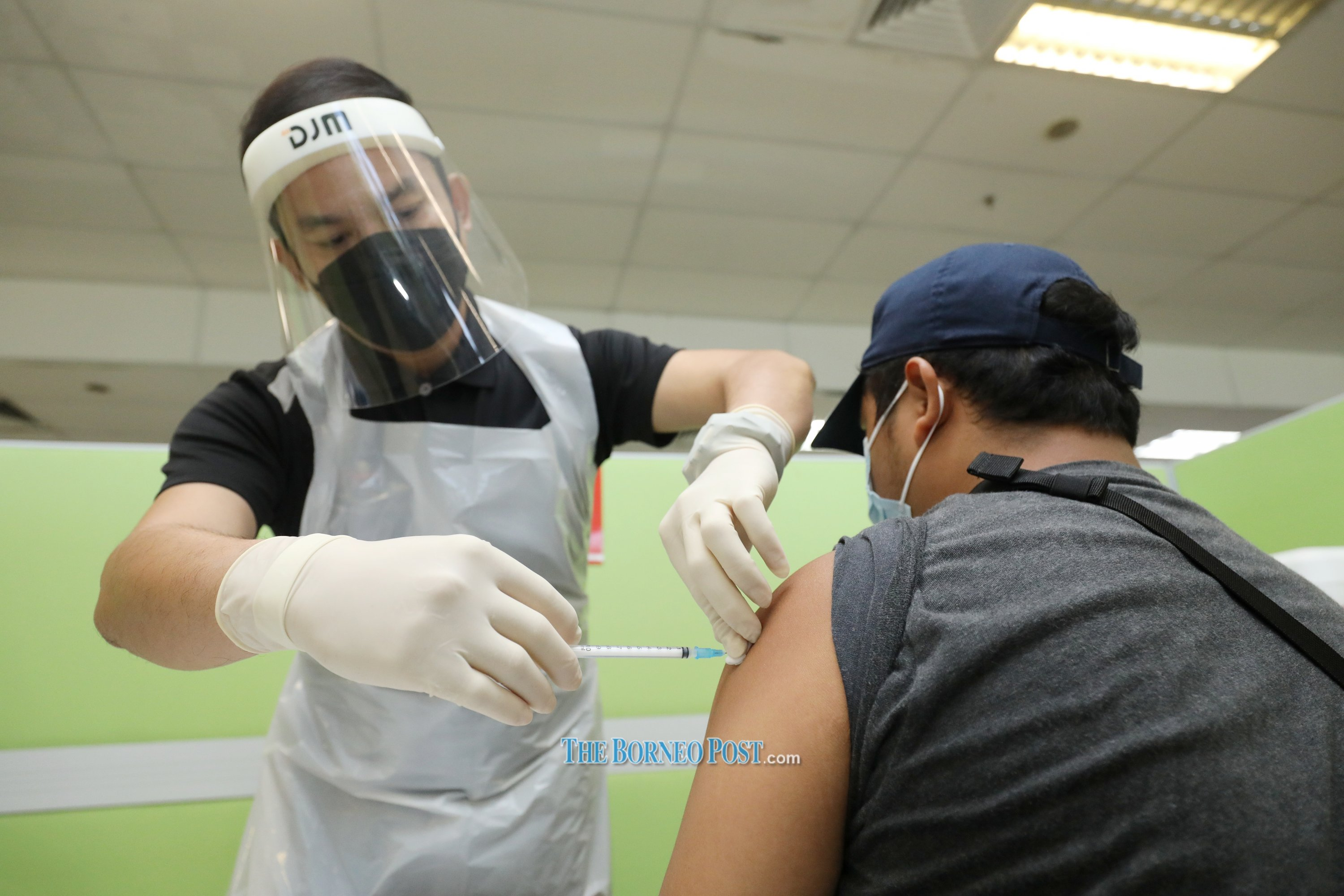 Fully vaccinated individuals are exempted from taking the mandatory swab test before entering Bintulu Division. — File pic by Chimon Upon/Borneo Post