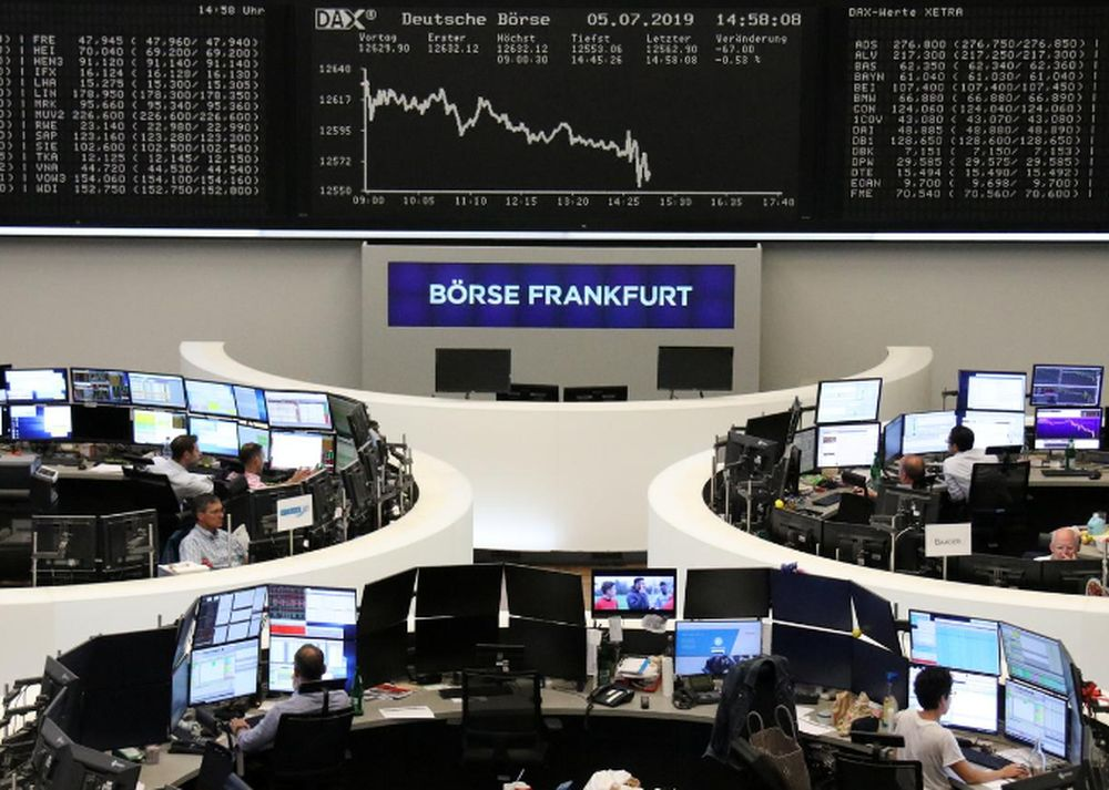 The German share price index DAX graph is pictured at the stock exchange in Frankfurt July 5, 2019. — Reuters pic