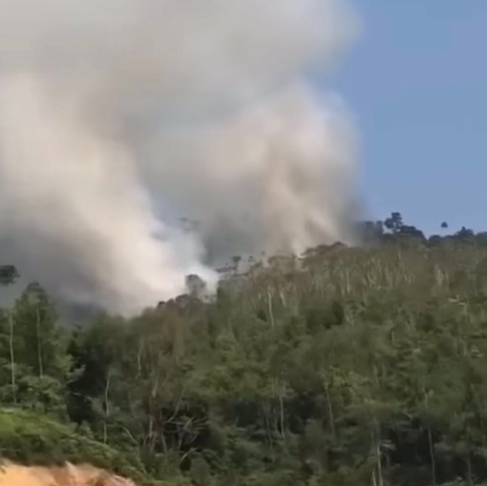 Kerteh Fire and Rescue Station chief Khairulhasni Mohktar said they sent a team of firemen in a fire engine to the scene after receiving an emergency call at 3pm. — Picture from Twitter/bernamadotcom