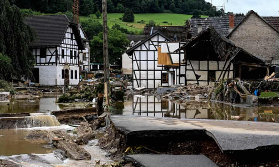 Like so many villages and towns in western Germany, Schuld, saw homes and roads destroyed in the flooding.
