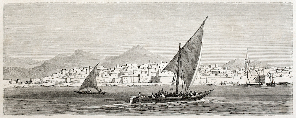 Jeddah old view, Saudi Arabia. Created by Girardet after Lejean, published on Le Tour du Monde, Paris, 1860. (Shutterstock)