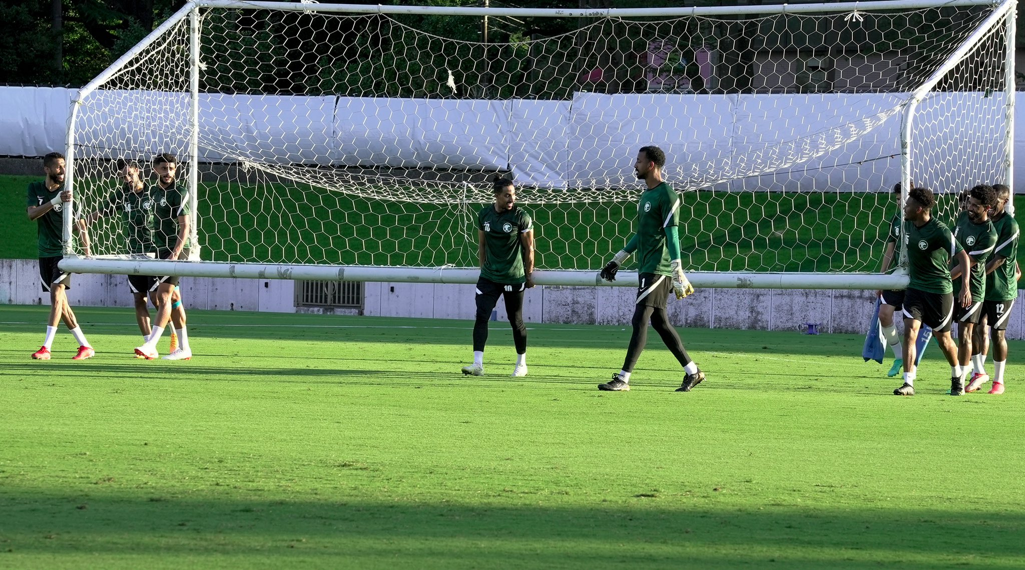 It is no secret that Saudi players rarely go overseas and the squad that touched down on Tokyo's Narita Airport at the weekend is fully a domestic-based roster. (Twitter: @saudiolympic)