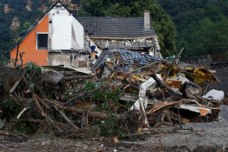 Insured losses from western German floods may total 4-5 billion euros - trade body
