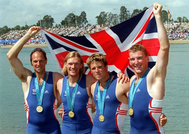 Steven Redgrave, Tim Foster, James Cracknell and Matthew Pinsent after winning 2000 Olympic gold in Sydney
