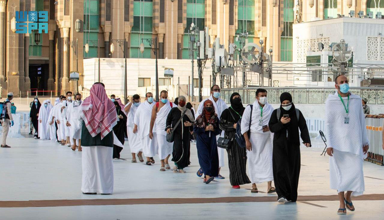 In a first, the Saudi National Center for Performance Measurement (Adaa) is collecting feedback at this year's Hajj to measure the performance of agencies involved in providing service to the pilgrims. (SPA)