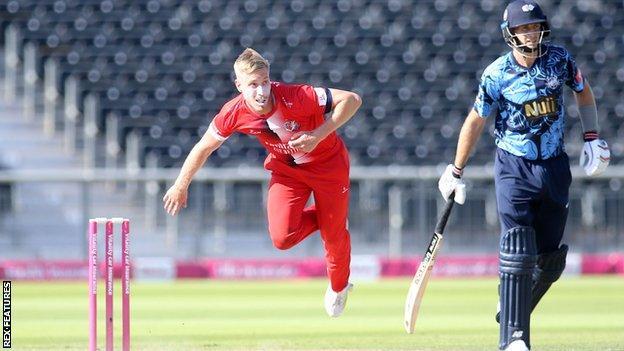Lancashire's Luke Wood took 4-20 against Yorkshire.