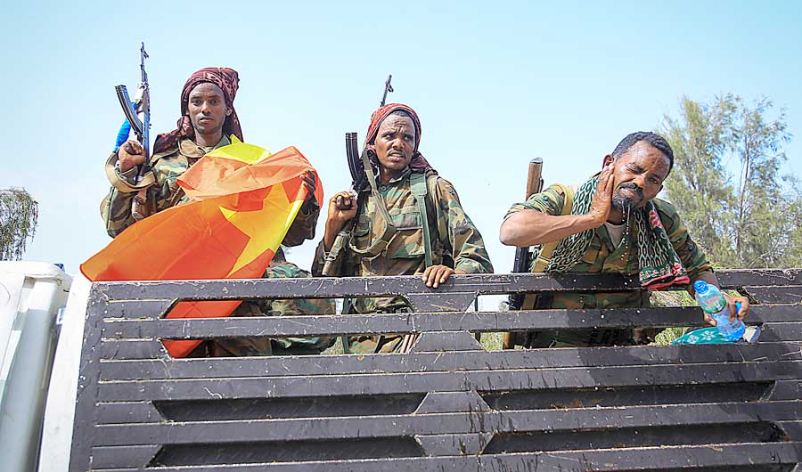 Three more Ethiopian regions are sending soldiers to reinforce the national army in its fight against forces from the northern region of Tigray, officials say. (AP)