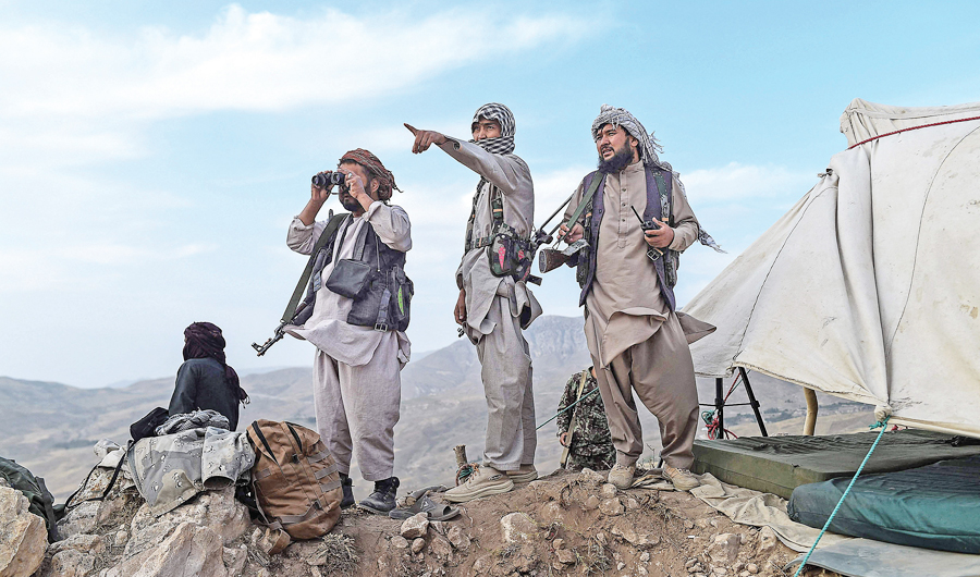Anti-Taliban militants in Balkh region of Afghanistan. Since the drawdown of US-led troops from Afghanistan began, the Taliban have overrun several districts. (AFP)