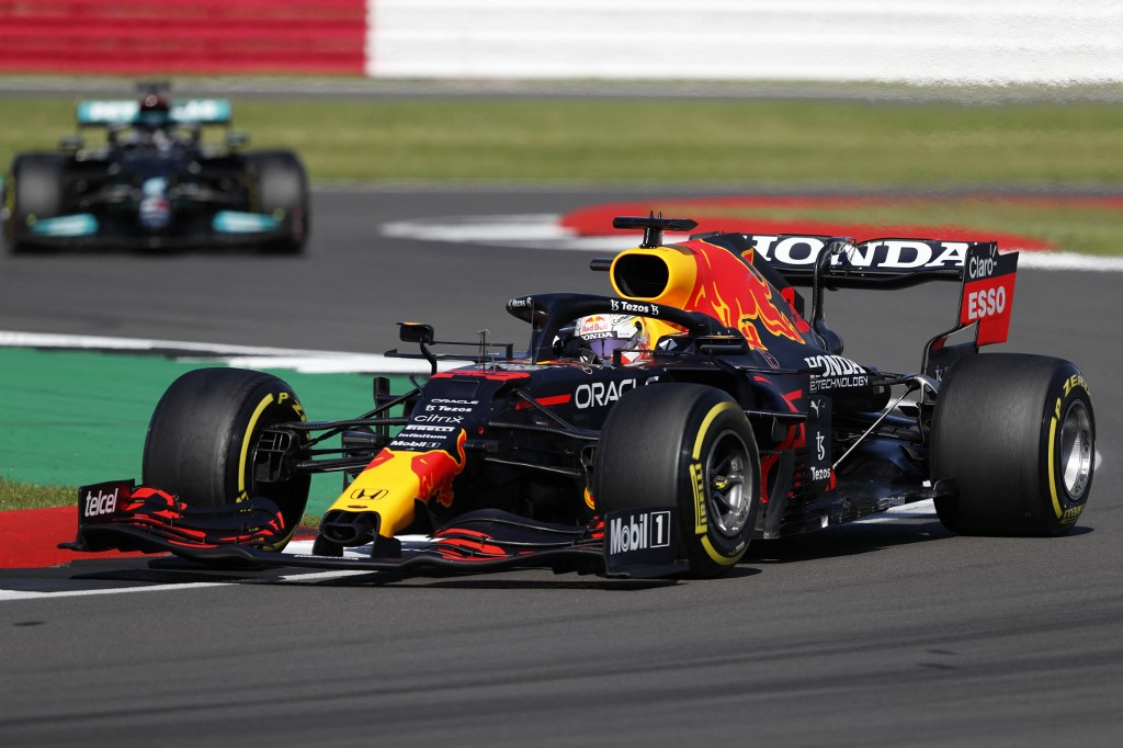 Red Bull's Dutch driver Max Verstappen drives during the sprint session of the Formula One British Grand Prix at Silverstone motor racing circuit in Silverstone, England, July 17, 2021. — AFP pic