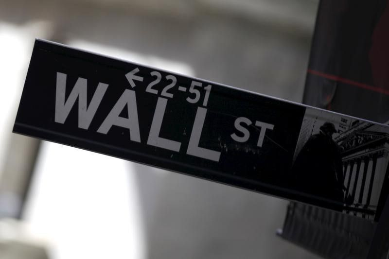 A Wall Street sign is seen in Lower Manhattan in New York. ― Reuters pic