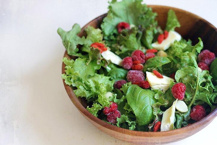 When raspberries met Brie: A simple summer salad. – Pictures by CK Lim