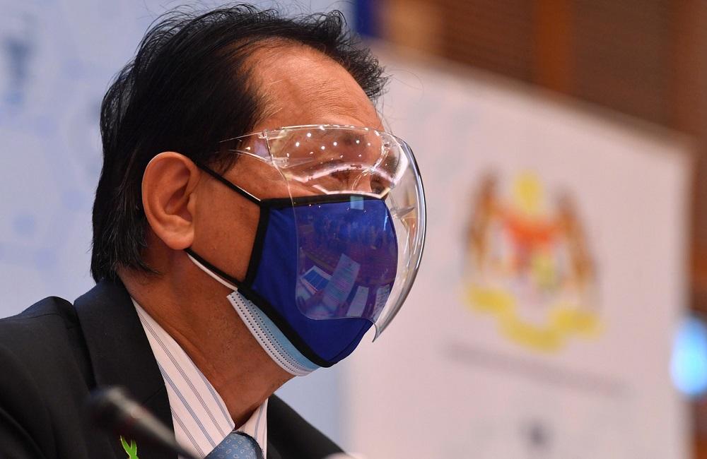 Health director-general Tan Sri Dr Noor Hisham Abdullah at a press conference in Putrajaya August 13, 2021. — Bernama pic