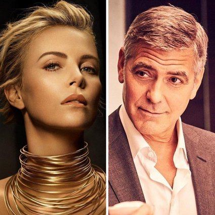 Hollywood stars with some of the highest endorsement deals: Charlize Theron, George Clooney, Julia Roberts and Robert Pattinson. Photos: @charlizeafrica, @nespresso, @juliaroberrts/Instagram; @AboutRPattinson/Twitter