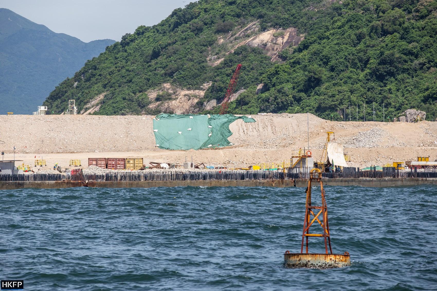 Shek Kwu Chau artificial island construction