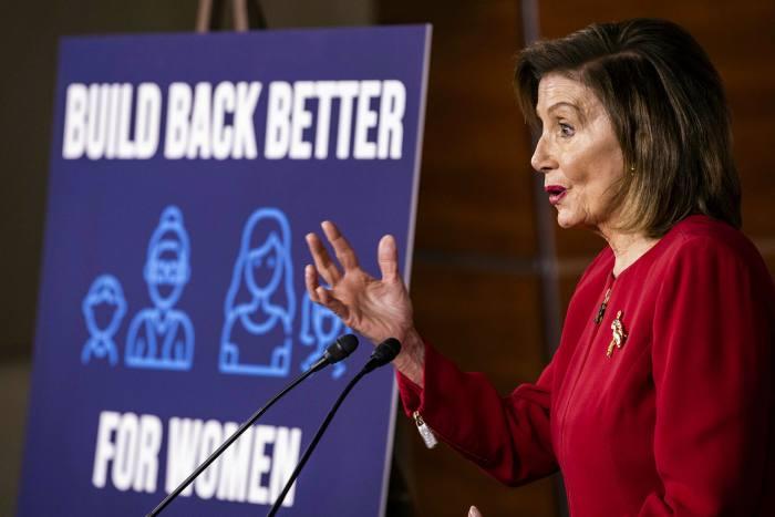 Nancy Pelosi, the House speaker