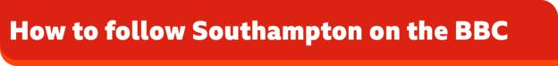 How to follow Southampton on the BBC banner