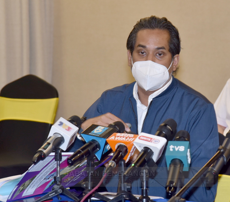 Health Minister Khairy Jamaluddin made Bukit Mertajam MP Steven Sim the point man for all Covid-19 matters related to Penang. — Picture courtesy of the Information Department