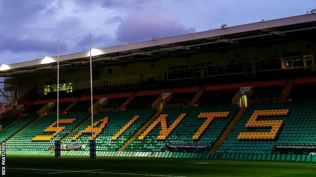 Franklin's Gardens has been Northampton's home since they began playing men's rugby there in 1888