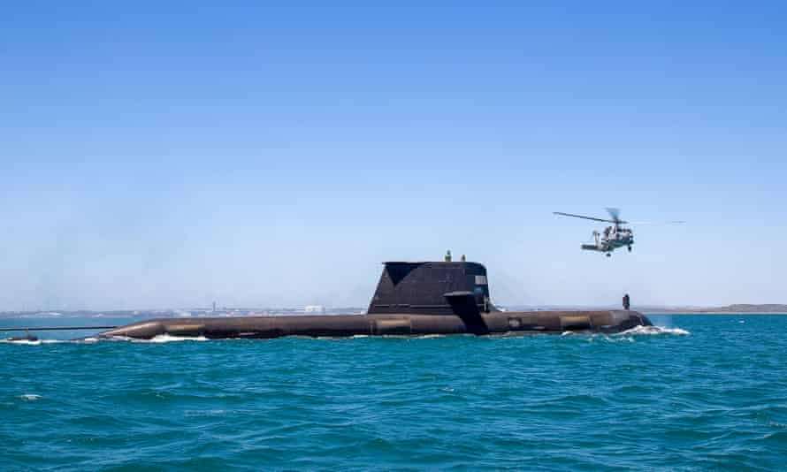 As part of the military alliance with the UK and US, Australia will build nuclear-powered submarines to replace conventional Collins-class subs such as HMAS Rankin