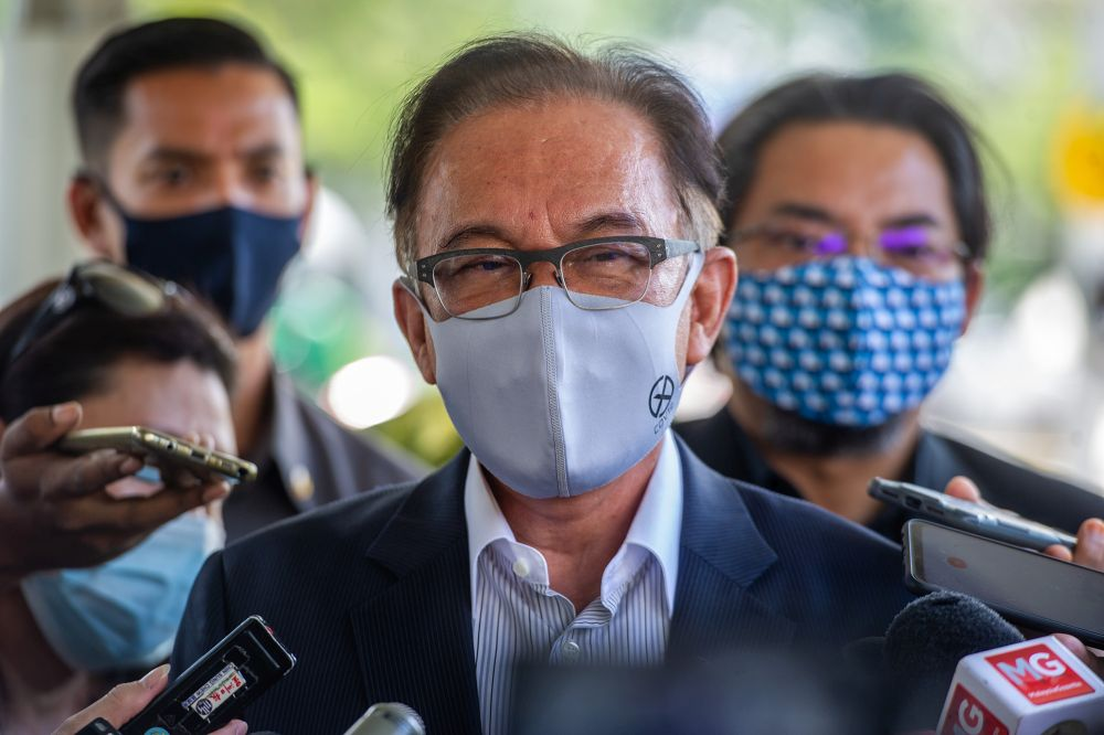 Anwar also said that discussions are ongoing between both sides for the best way forward in the nation's war against the Covid-19 crisis. — Picture by Shafwan Zaidon