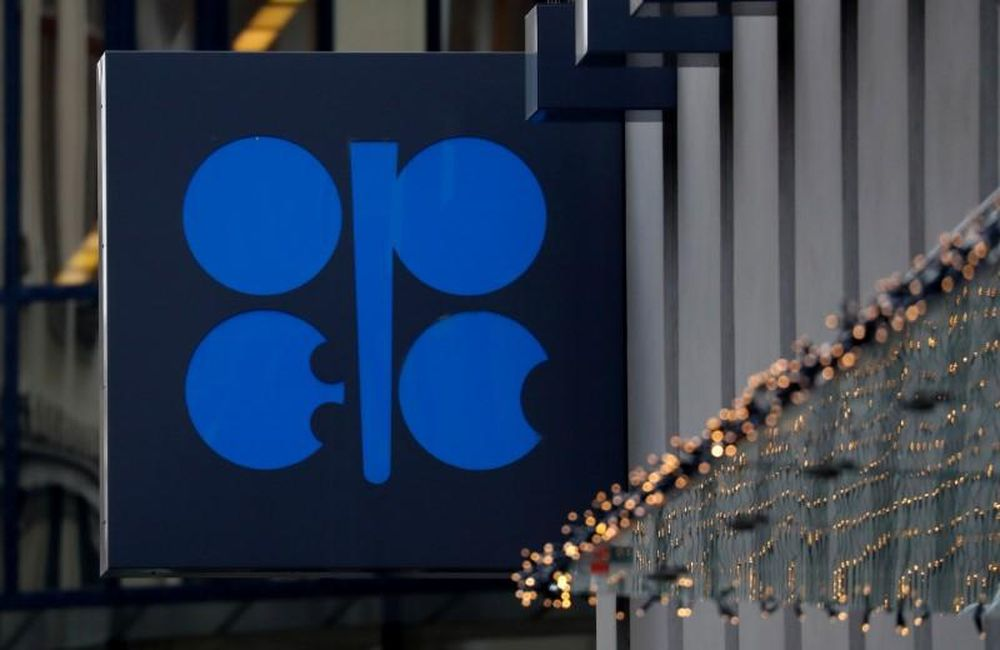 The logo of the Organisation of the Petroleum Exporting Countries (Opec) sits outside its headquarters ahead of the Opec and Non-Opec meeting, Austria, December 6, 2019. — Reuters pic