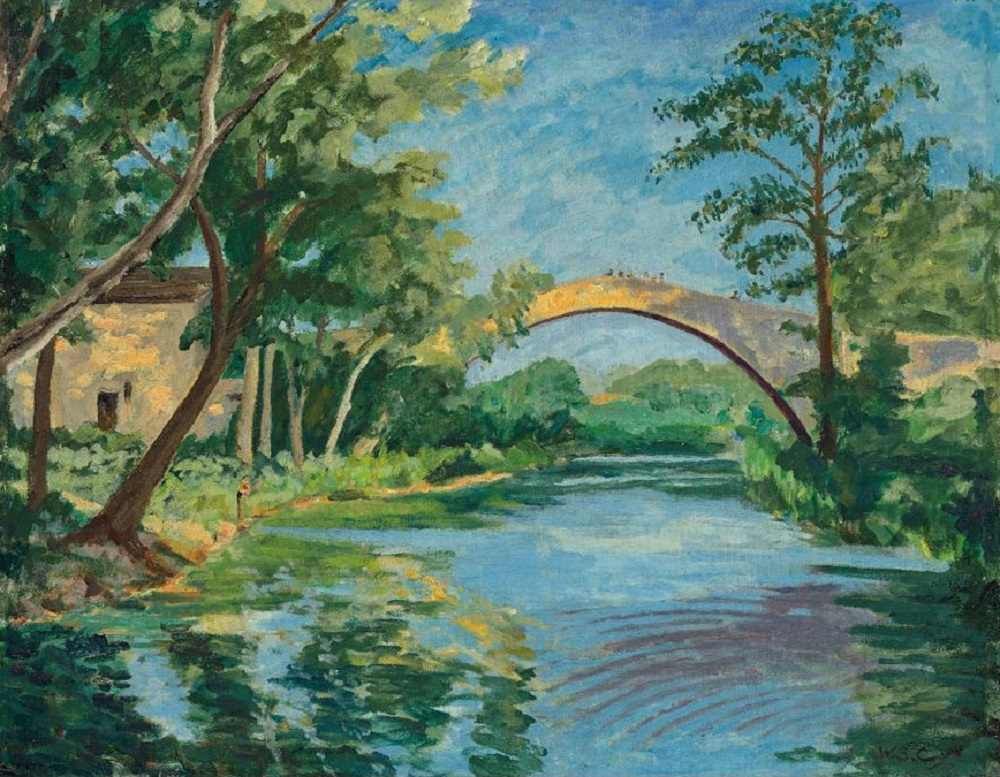 'The Bridge at Aix-en-Provence' by Winston Churchill goes under the hammer, October 20 at Christie's London. ― Picture courtesy of Christie's
