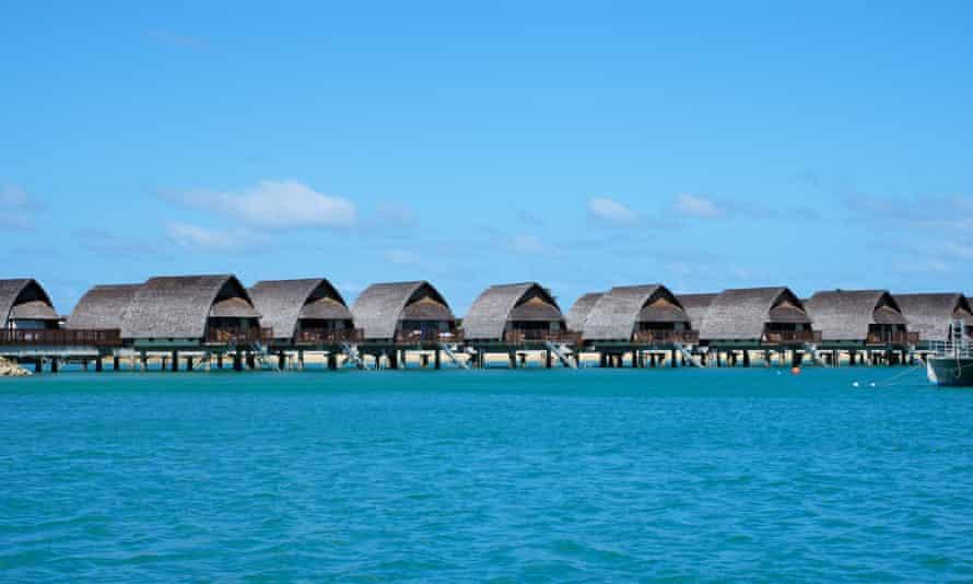 Overwater bure's at Fiji's Marriott Momi resort
