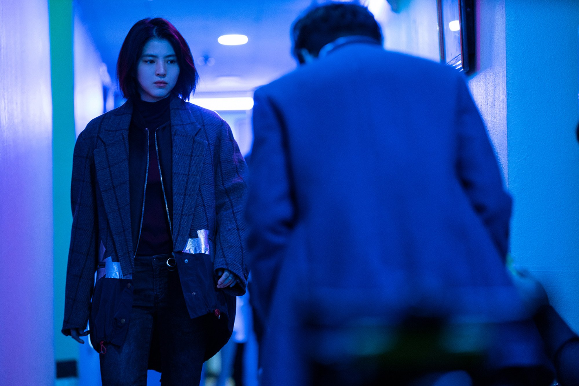 Han So-hee in a still from My Name. Photo: Netflix