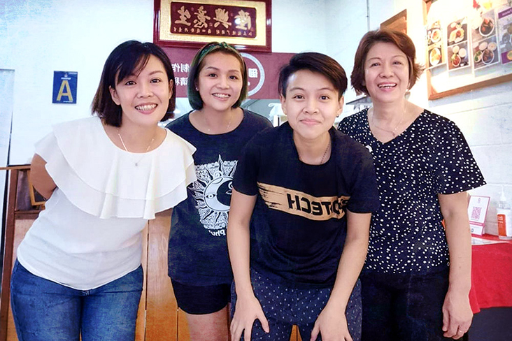Family business (left to right): The Phan sisters – Siew Wai, Siew Mei and Siew Yie – and their mother, Wong Yoke Khan.
