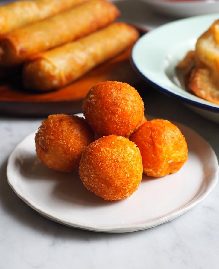 You can get deep fried sweet potato balls here too.