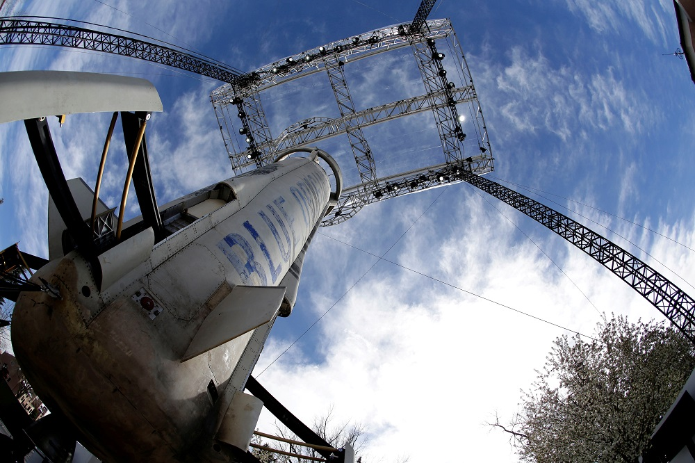 A general view of the Blue Origin New Shepard rocket booster at the 33rd Space Symposium in Colorado Springs, Colorado April 5, 2017. ― Reuters file pic