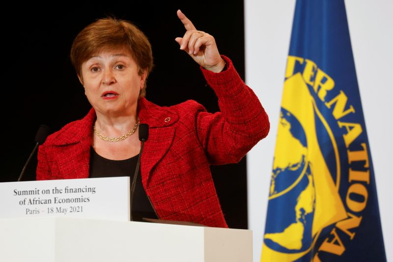 IMF's Georgieva focused on global challenges after getting board's backing -interview