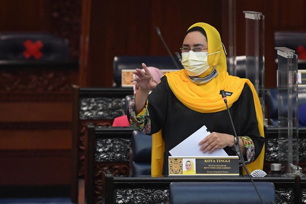 National Unity Minister Datuk Halimah Mohamed Sadique. — Bernama pic