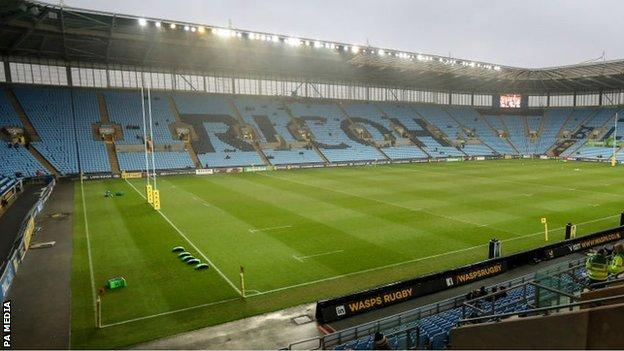 Wasps have now been playing in Coventry for seven years
