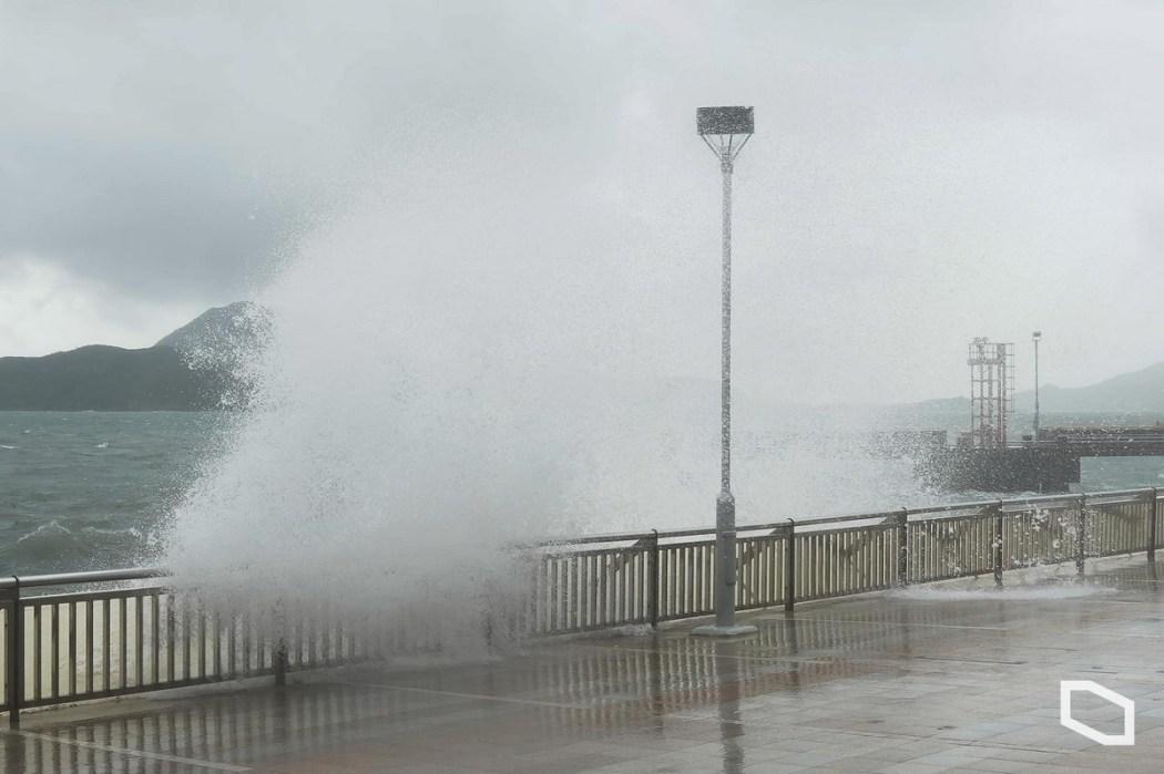 Typhoon Kompasu flooding Heng Fa Chuen