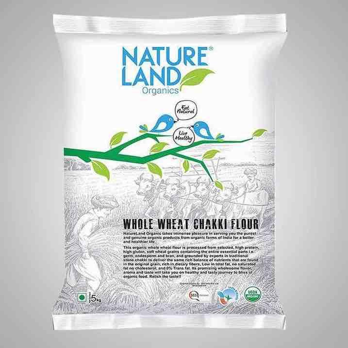 Chakki Atta Organic 5kg Nature Land