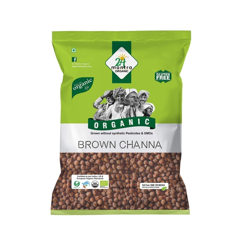 Brown Chana 1kg 24 Mantra Organic