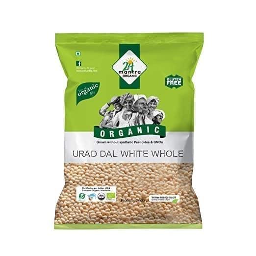 Urad White Whole 1kg 24 Mantra Organic