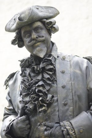 Baron von Münchhausen 2nd at the National Championship Living Statues