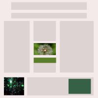 layout, kleur, afbeeldingen