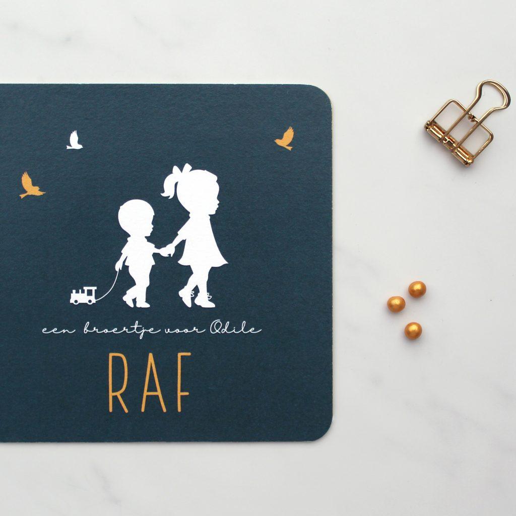 Geboortekaartje Raf