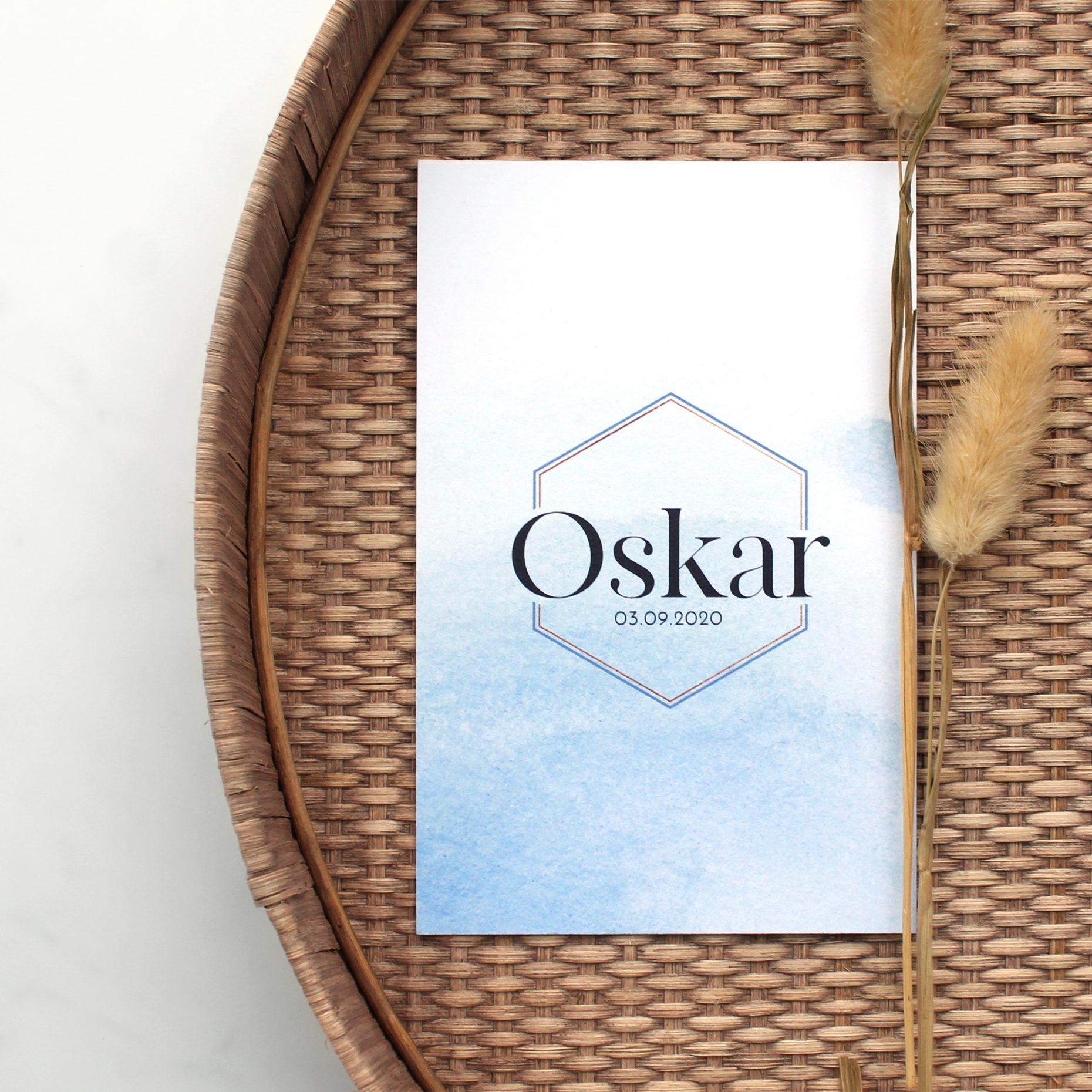Geboortekaartje Oskar
