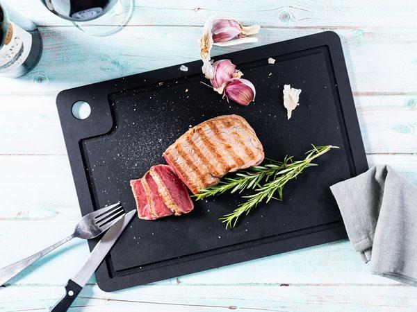 Snijplank voor barbecue met sapgeul