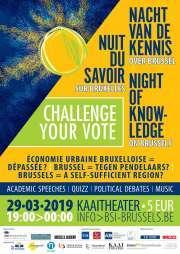 Affiche 2019 de la Nuit du Savoir à Bruxelles