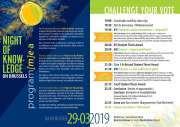 Dépliant 2019 de la Nuit du Savoir à Bruxelles