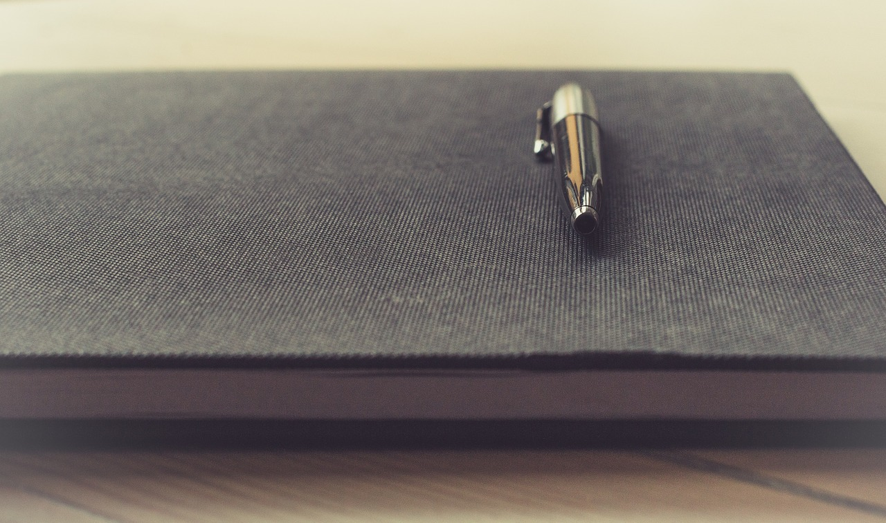 notepad, pen, business