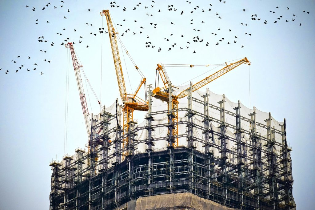 building, construction, site